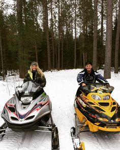Chase is ready to embrace snowmobile season in Eagle River.