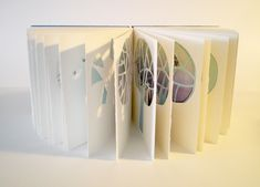 'One Little Tree' 2009. Screen-printed pages with cutouts and collage. Coptic binding with 2 needles. 18W x 17H x 5cmD. - Amanda O'Sullivan