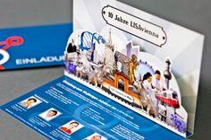Einladung LISAvienna zur 10-Jahresfeier Property Development, Real Estate Development, Press Kits, Direct Mail, Digital, Visual Communication, Celebration, Invitations, Creative
