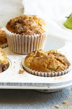 "Apple and Sultana Muffins by sumaya - ""I made these muffins last weekend for dessert after coming home from work. They were quick to make and delicious. I also froze some of them, they are still just as beautiful. Apple Recipes, Sweet Recipes, Baking Recipes, Dessert Recipes, Desserts, Paleo Baking, Healthy Muffin Recipes, Allergy Free Recipes, Healthy Muffins"