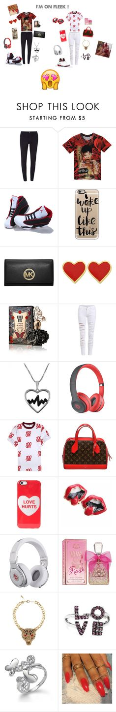 """""""...My Cute Outfits"""" by joneskayla600 ❤ liked on Polyvore featuring beauty, Dorothy Perkins, NIKE, Casetify, MICHAEL Michael Kors, Anna Sui, Jewel Exclusive, Beats by Dr. Dre, Louis Vuitton and Marc by Marc Jacobs"""
