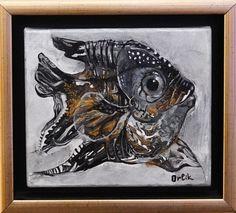 Artist: Inna Orlik Original, acrylic colors on canvas. Golden Fish, Small Paintings, Acrylic Colors, Online Art, Moose Art, Lion Sculpture, Art Prints, Canvas, Gallery