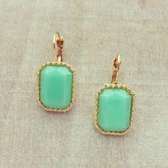 Mint Architecture Earrings