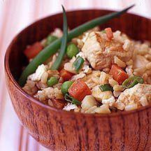 Gebakken rijst met kip Recept | Weight Watchers België
