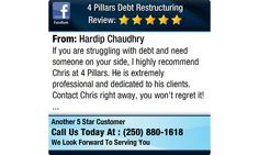 If you are struggling with debt and need someone on your side, I highly recommend Chris at...