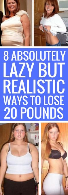 8 lazy ways to lose weight fast and for good.