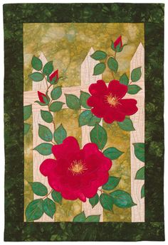 "Wild Roses, 16 x 24"", pattern by Janet Pittman 