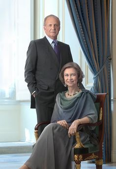 King Juan Carlos I of Spain and Queen Sophia of Spain, Princess of Greece and Denmark.  Saw Queen Sophia at the Kennedy Center in Washington, D.C.