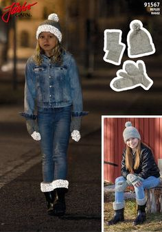 Stay visible in the dark with our brand new yarn Reflex. Why not knit these essential accessories? Knitting For Kids, Loom Knitting, I Cord, Drops Design, Mittens, Knit Crochet, Sewing Patterns, Brand New, Locker Hooking