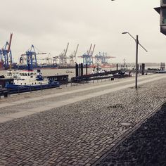 Hamburg Hafen  even in stormy weather you are so beautiful. Tuesday morning.. No ppl around, no words, no worries, no mistakes. Empty silence. Windy silence. #wearehamburg #hamburg #hh #hamburgharbour #hamburgahoi #hamburghaven