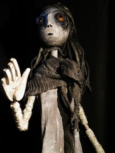 Large hand and rod puppet 1 by sarachimp, via Flickr