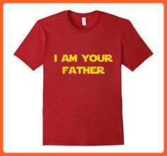 Mens I Am Your Father T-Shirt Large Cranberry - Relatives and family shirts (*Partner-Link)