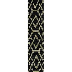 Diamond Chain - beading cuff bracelet pattern for peyote OR loom (Buy Any 2 Patterns - 3rd. FREE) - pdf. $4.00, via Etsy.