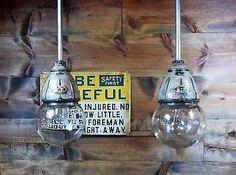 Vintage 30's Benjamin Explosion Proof Industrial Light Fixture Gas Station Barn4