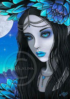 Gothic Fairy Blue Moon Lotus Flower Nalin Limited by MykaJelina