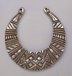 Pakistan | Silver woman's necklace from Kohistan/Swat