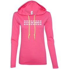 just kidding t shirt hahaha t shirt lol t shirt-01 887L Anvil Ladies' LS T-Shirt Hoodie