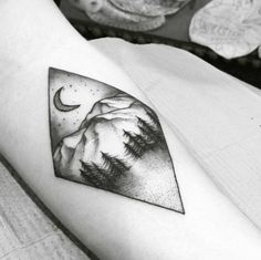 Diamond-Shaped Landscape Tattoo by Florida Velvet