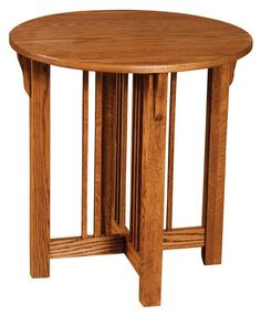 Prairie Mission ROUND END Table Amish Oak Or Cherry Table U0026 Hardwoods