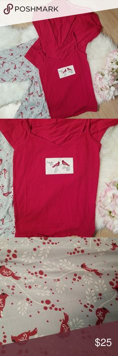 Kim Rogers Cardinal Pajama Set ✔️All are size small ✔️Excellent used condition ✔️Includes high waisted PJ pants, cardigan, and tank top Kim Rogers Intimates & Sleepwear Pajamas