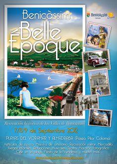 Cartel del evento costumbrista creado por la agencia, Benicassim Belle Epoque