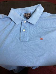 386c02bca Polo Jeans Company Ralph Lauren Flag Polo Shirt NWT Mens L Baby Blue # fashion #