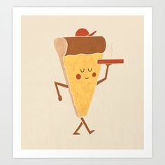 Pizza Delivery Art Print by Teo Zirinis - $16.00