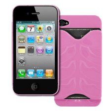 Too cool!!! Need this--  EMPIRE Apple iPhone 4 / 4S Credit Card Holder Hard Case Cover (Pink)   $4.95