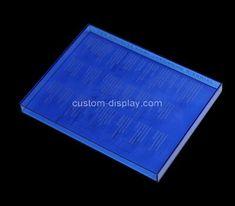 Custom printing blue acrylic book case, custom plexiglass case Custom Printing, Silk Screen Printing, Acrylic Box, Laser Engraving, Bookcase, Prints, Blue, Screen Printing Press, Screen Printing