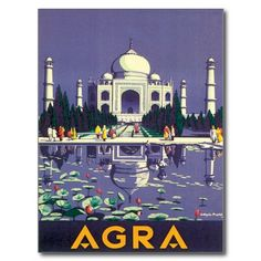 Vintage Agra Taj Mahal India Postcard #Postcards #Vintage #Travel