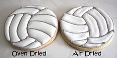 Volleyball Cookies - The Royal Icing Queen - Icing Craters Tutorial