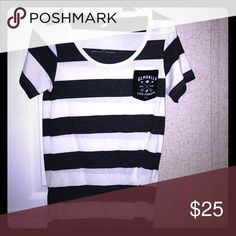 Striped soft tee Navy/white stripe Glamour Kills tshirt Tops Tees - Short Sleeve