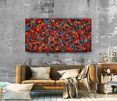 Buy Jackson Pollock Style Painting Online - Chaos Storm #JacksonPollockStylePainting #PaintingsOnline #Paintings #AbstractArt #ContemporaryArt #ModernPaintings #AbstractArtSale #PaintingForSale Modern Oil Painting, Oil Painting On Canvas, Canvas Art, Jackson Pollock, Modern Art, Contemporary Art, Sell My Art, Impressionist Art, Wooden Frames