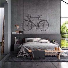 Own your morning // bedroom // interior // bathroom // home decor // wall decor // city suite // urban loft // city living // urban life // Loft Style Bedroom, Modern Bedroom, Minimal Bedroom, Master Bedroom, Decoration Inspiration, Interior Design Inspiration, Decor Ideas, Design Ideas, Home Interior