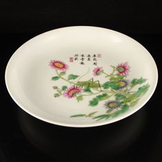Hand-painted Chinese Famille Rose Porcelain Plate