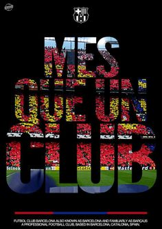 More than a club / Més que un club / Más que un club. Lionel Messi Barcelona, Barcelona Team, Barcelona Football, Barcelona Futbol Club, Barcelona Catalonia, Psg, Fc Barcelona Wallpapers, Camping Club, Camp Nou