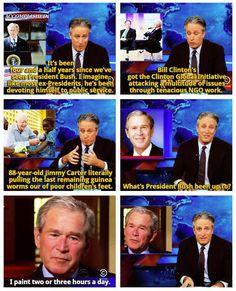 Jon Stewart and Bush