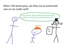 When I file bankruptcy, can they sue an authorized user on my credit card? | robertspaynelaw.com My Utah Bankruptcy Blog