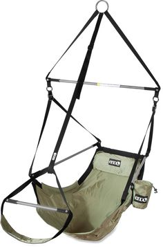 It's more to fun camp when you have a comfy place to sit. Check out the ENO Lounger Hanging Chair.