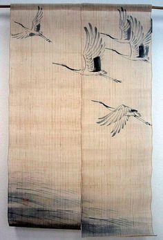 Noren Tsuru http://www.japanzimmer.de/japan-classics/noren-wandvorhaenge/index.html