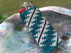 Beautiful Hand Beaded Native American Lighter Case by NativeArtsCrafts on Etsy