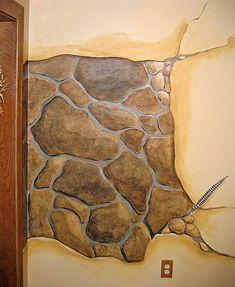 Shari Fry : Tromp l'Oeil : decorative painting, faux finishing, murals, & custom furniture