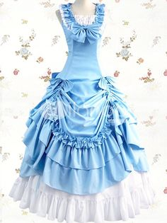 sky blue/white lolita dress
