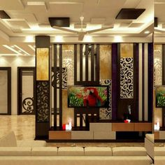 45 Brilliant Partition Wall Design Ideas To Blow You Away - Engineering Discoveries Room Partition Wall, Living Room Partition Design, Room Partition Designs, Partition Ideas, Living Room Modern, Living Room Designs, Divider Design, Divider Ideas, Wall Design
