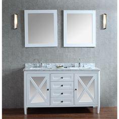 Best Deal Ariel By Seacliff Summit 60 Double Sink Bathroom Vanity Set