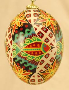 Ukrainian Egg Cosmic Wisdom Fish by BuildingWithColor on Etsy, $35.00
