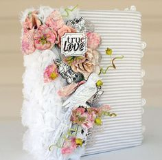 Style and Techniques You Can't Resist-Fabric Album with Delaina on Live with Prima-2/11 at 6:30pm/ 9:30PM ET here: http://www.ustream.tv/channel/primaflower #wedding #mini #album #resins #woodicons #flowers #primaflowers