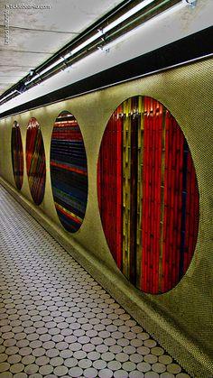 """Any wonder my novel """"Subway Hitchhikers"""" runs along surreal lines? ... PEEL METRO STATION, MONTREAL"""