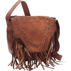 For Sharo Brown Leather Western Fringe Cross Body Bag Get Free Delivery At