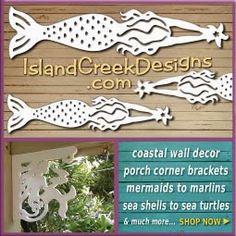 island creek design mermaid wall decor